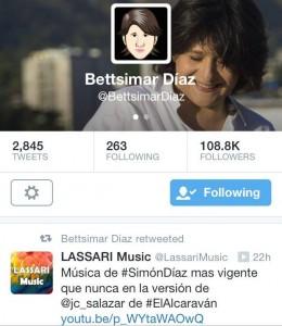 Tweet de Bettsimar Diaz